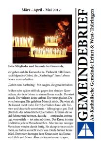 Gemeindebrief Frühjahr 2012