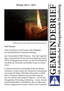 Gemeindebrief Winter 2012/2013