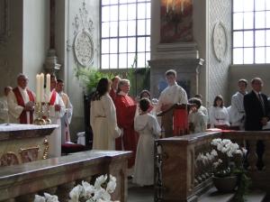 Diakonin Hilde Freihoff bei der Lesung des Evangeliums