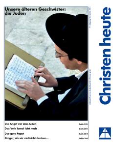 Titelbild Christen heute November 2013