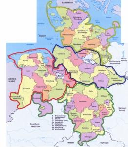 Neu-Aufteilung des Nordens