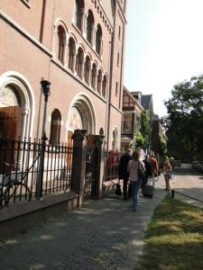 Eingangsportal der St. Gertudis-Kathedraal in Utrecht, unserer Erzbischofs-Kathedrale und Alt-Katholischen Pfarrkirche in Utrecht