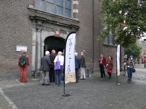 Vor der Janskerk in Utrecht