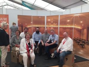 Runde des Vorstands des Ökumenischen Forum HafenCity mit der Evangelisch-methodistischen Bischöfin Rosemarie Wenner