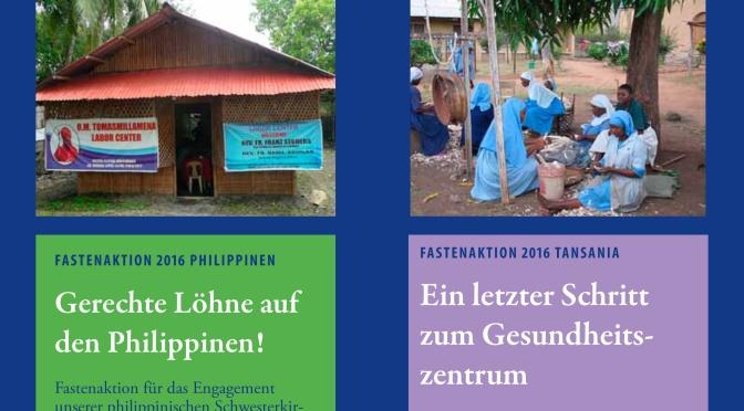 Fastenprojekte 2016: Gerechtigkeit auf den Philippinen & Gesundheit in Tansania